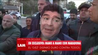 Maradona salió a bancar a Cristina Fernández y mató a Marcelo Tinelli