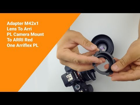 Adapter M42x1 Lens To Arri PL Camera Mount To ARRI Red One Arriflex PL