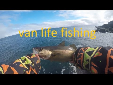 Van life fishing isle of skye pollock adventure