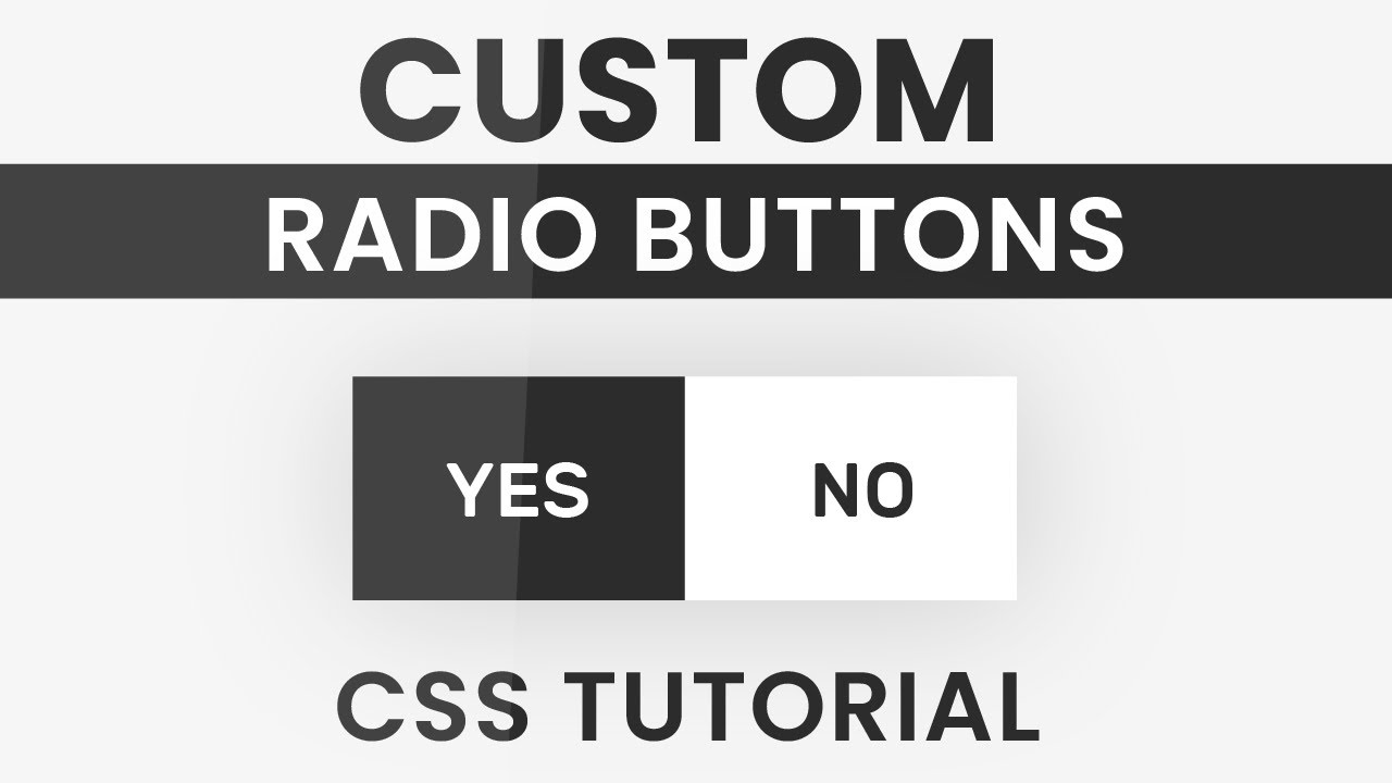 Animated Custom Radio Button CSS | Styling Radio Buttons with CSS |CSS  Tutorial
