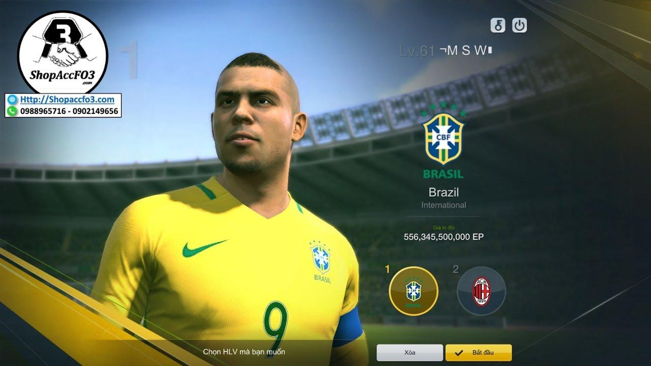 ShopAccFO4.com | Mua Bán Acc Fifa Online 3 VIP 556 Tỷ Ronaldo Béo UL- R. Gullit WL& P. Vieira WL