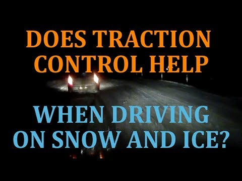 Driving On Snow And Ice With Traction Control - Dash Cam