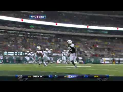 Santonio Holmes Drops Easy TD Pass...Jets vs. Dolphins 2010