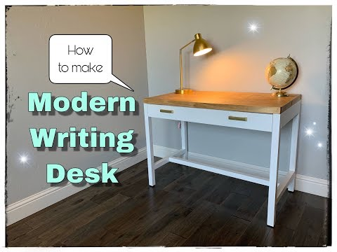 DIY Modern Writing Desk