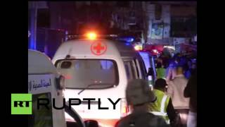 Lebanon: Victims rushed to hospital as twin blasts kill at least 43 in Beirut