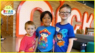 Ryan's Playdates at Nickelodeon Animation Studio!!!!