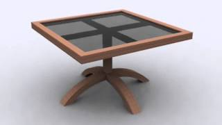Modern Square Wooden Coffee Table