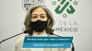 El partido pide elaborar un cuestionario parlamentario a Florencia Serranía, con lo que evita citar a la funcionaria por el desplome en Línea 12