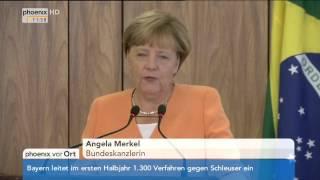 Deutsch-brasilianische Regierungskonsultationen mit Angela Merkel und Dilma Rousseff am 21.08.2015