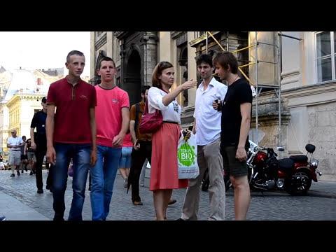 English in Lviv Ukraine(Watch on PC!) Read Subtitles - Ukr, Rus subs