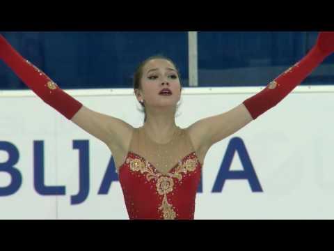 2016 ISU Junior Grand Prix - Ljubljana - Ladies Free Skate - Alina ZAGITOVA RUS