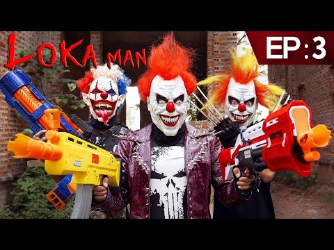 GUGU Nerf War Ep 3 : CID Dragon Nerf Guns Fight Boss Loka Mask Family Worin And Tick [ Begining ]