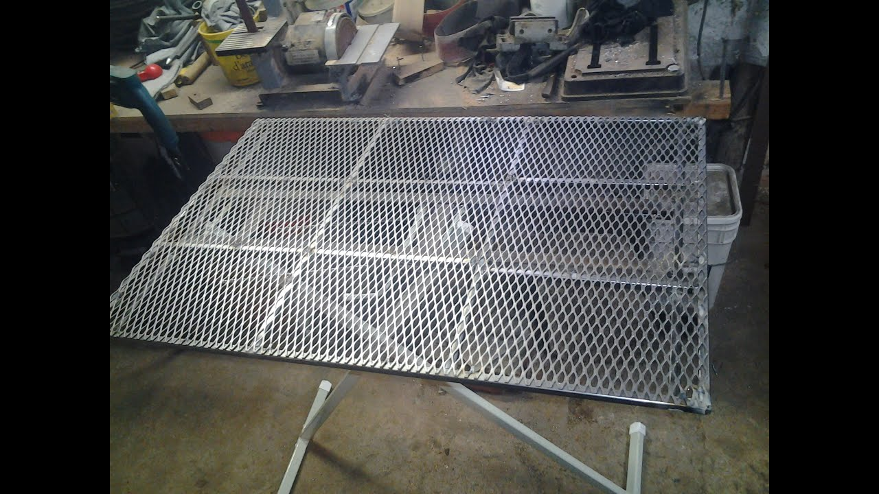 Almost Free Welding Table Build - YouTube