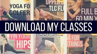Download my Youtube Yoga Classes - No Wifi Needed & No Ads! {FREE}