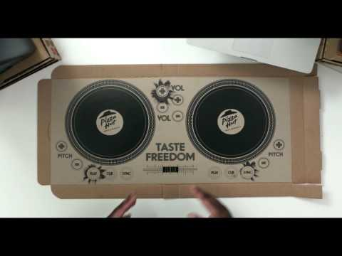 Learn just how the world's first playable DJ pizza box works