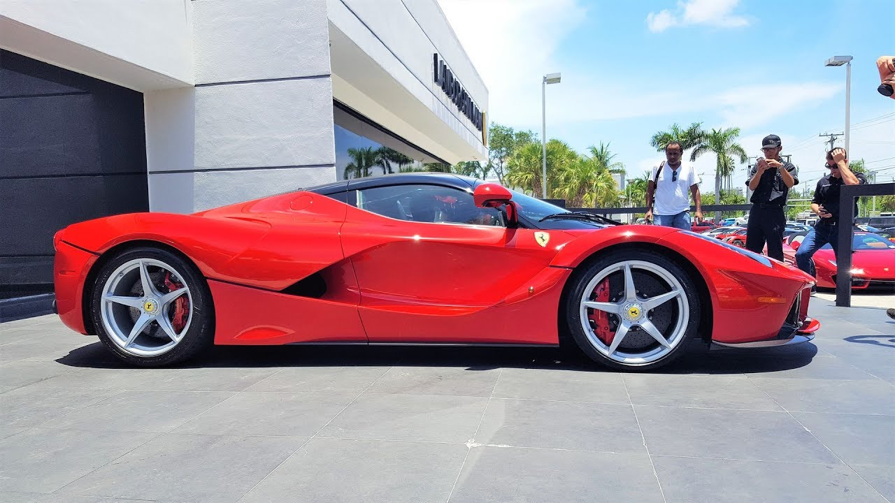 Ferrari LaFerrari Delivery to Prestige Imports Miami BRO I'M IN LOVE!!! Start up acceleration r
