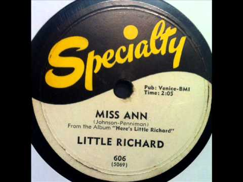 Little Richard - Miss Ann, 1957 Specialty 78 record. - YouTube