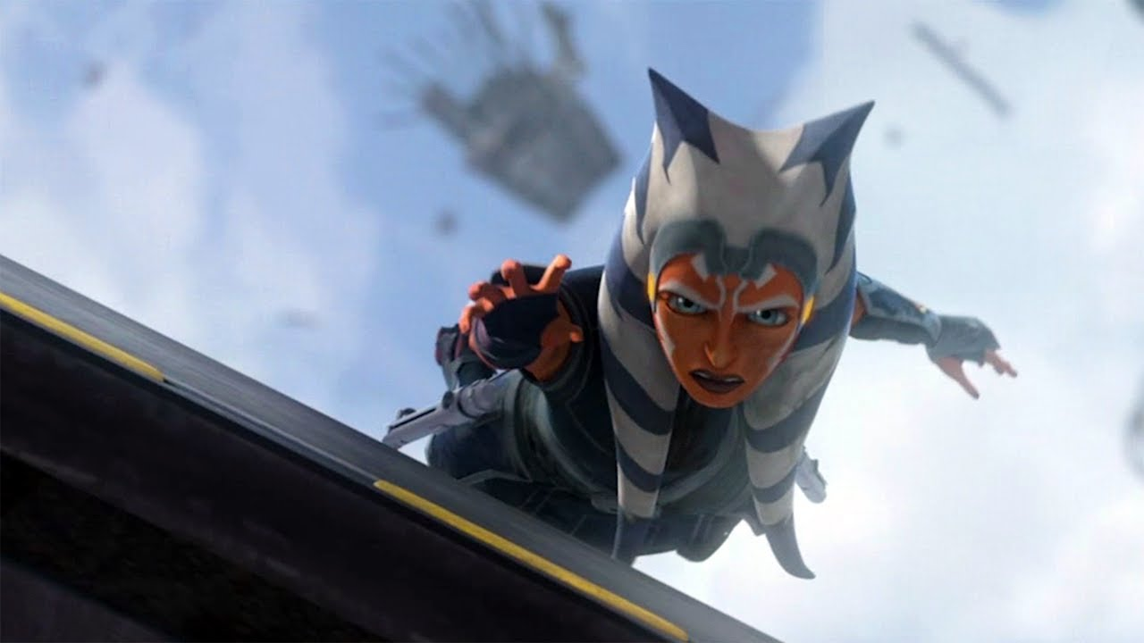Ahsoka Dodges Debris While Free Falling Clone Wars Finale Victory And Death Clip Youtube