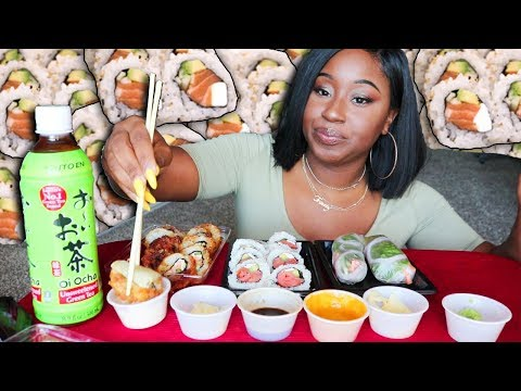 JUST DISRESPECTFUL!  SUSHI ROLL MUKBANG WITH TRINITEA!