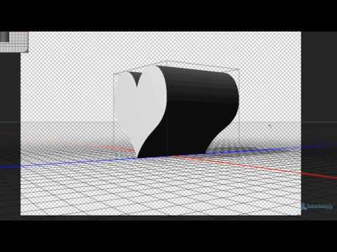 Photoshop Tutorial : Using 3D from Selected Path in Photoshop CS6