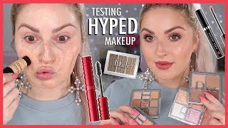 Testing HYPED Makeup 💕🤯 Full Face LUXURY & HIGH END First Impressions