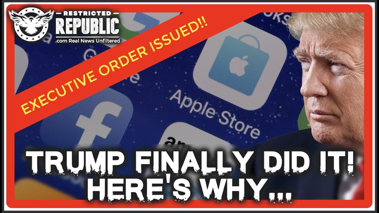 BREAKING NEWS!! Trump Finally Pulls Trigger On Big Tech! Executive Order Issued! Preview Here Now!