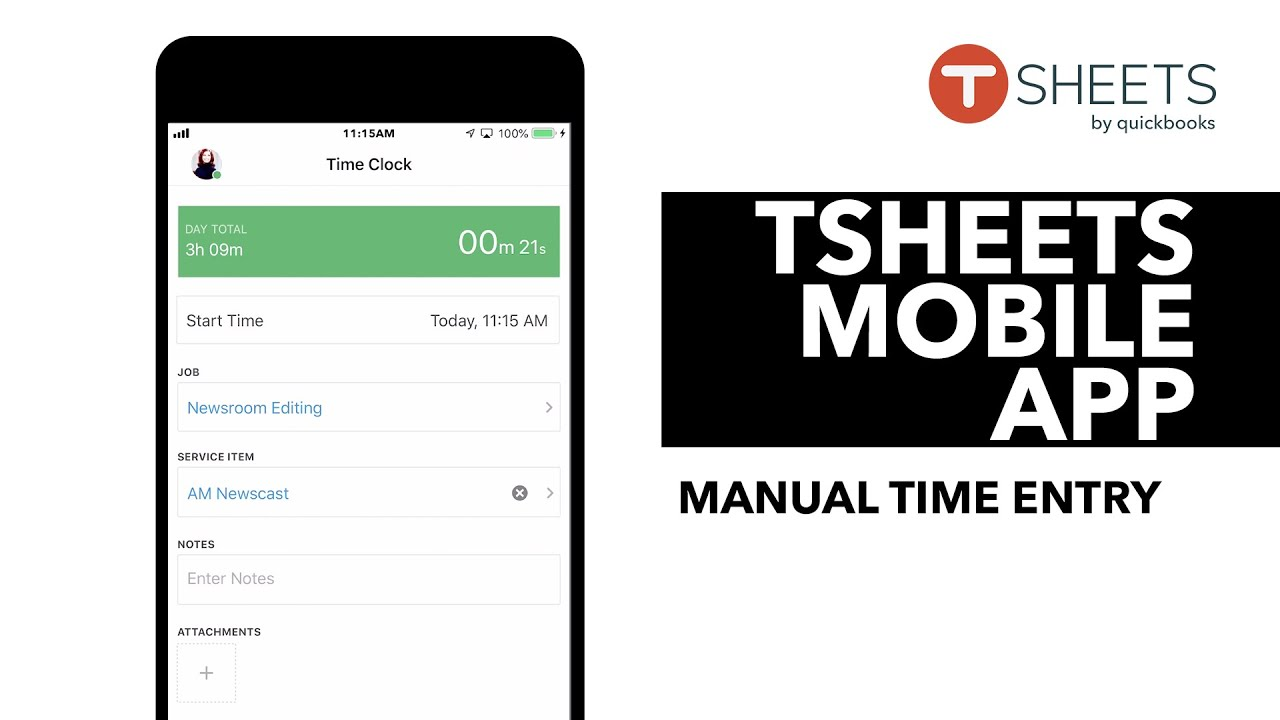 TSheets iPhone App: Creating a Manual Timesheet