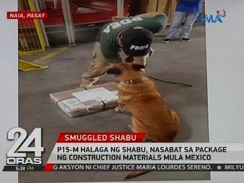 24 Oras: P15-M halaga ng shabu, nasabat sa package ng construction materials mula Mexico