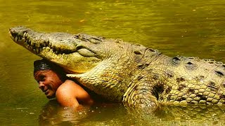 This Fisherman Found A Wounded 980 Pound Crocodile Washed Ashore  Then He Tried To Tame The Monster