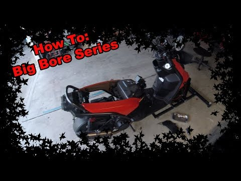 Big Bore Kit Series #2 - How to remove the Engine Cover & Exhaust on a Yamaha Zuma 125 scooter/moped
