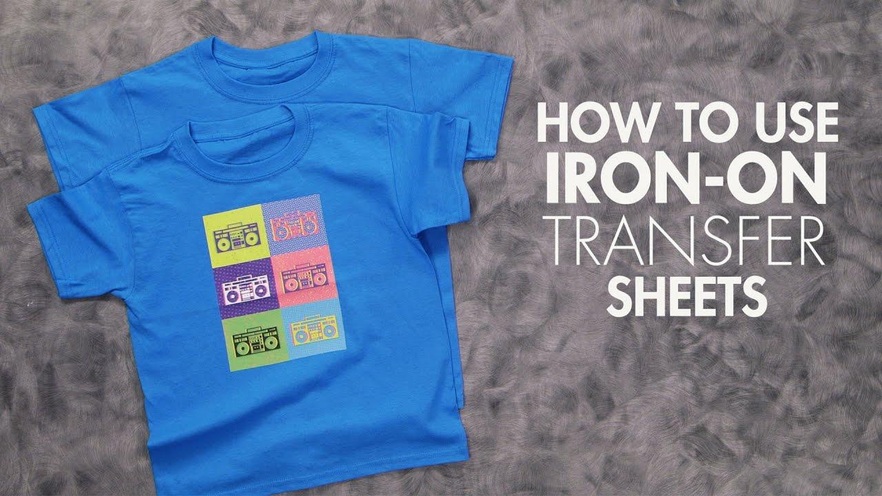 How To Use Iron On Transfer Sheets Wearable Art Hobby Lobby