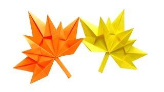 maple leaf origami кленовый лист оригами