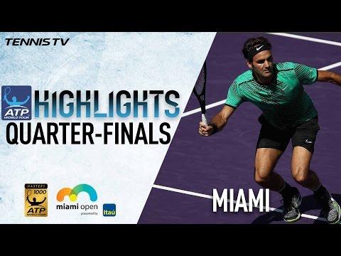 Highlights: Federer Kyrgios Battle Into Miami 2017 Semi-Finals
