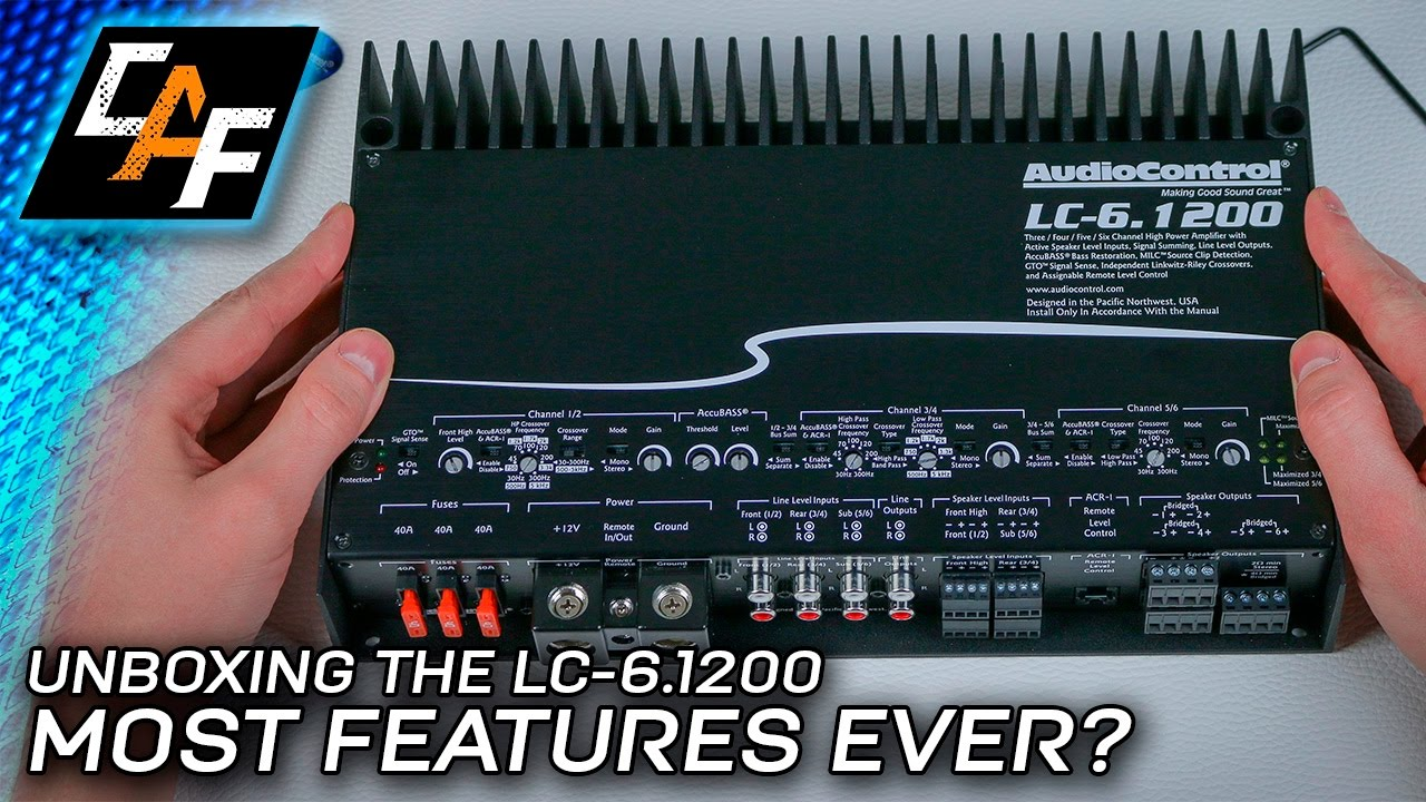 Feature Packed Audiocontrol Lc 61200 6 Channel Amplifier Youtube Diagram Speakers 4 Channels On Car Stereo Amp Wiring