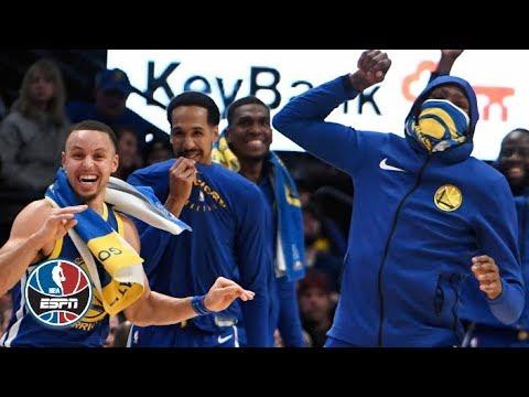 Warriors defeat No. 2 Nuggets in historic fashion | NBA Highlights thumbnail