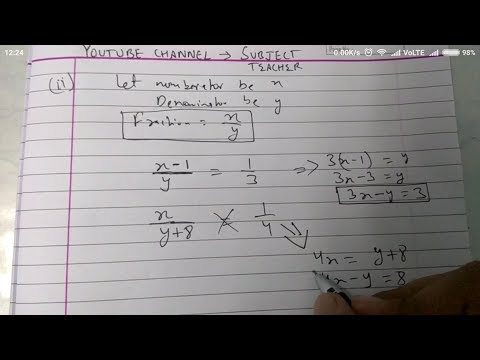 Chapter 3 exercise 3.5 Q4 (all parts)  pair of linear equations in two variables maths class 10