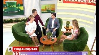 """Катя Осадча та Юрій Горбунов в гостях """"Сніданку з 1+1"""""""