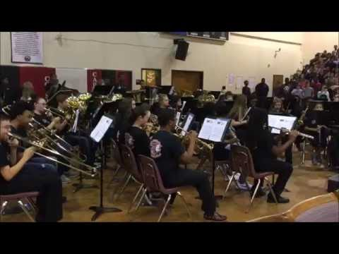 Cousins Middle School Band National Anthem 9 9 16