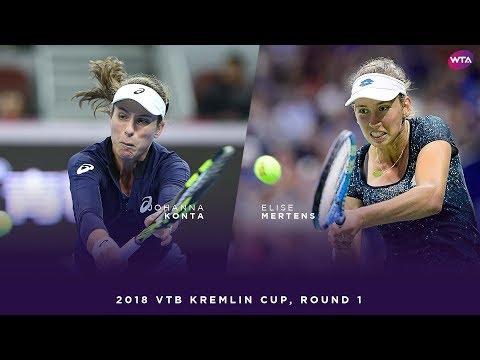 Johanna Konta vs. Elise Mertens | 2018 VTB Kremlin Cup Round One | WTA Highlights