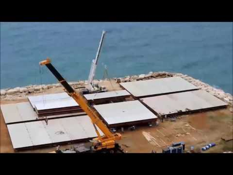 HOW IT'S MADE!! 6 Floating Barges 1350sqm in 15 days
