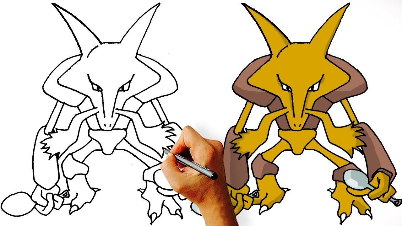 Uncategorized How To Draw Pokemon Pictures how to draw alakazam pokemon step by youtube