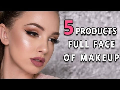FULL FACE USING ONLY 5 AFFORDABLE PRODUCTS | Makeup Tutorial