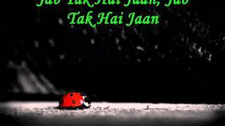 Gambar cover Jab Tak Hai Jaan - The Poem - Lyrics on Screen