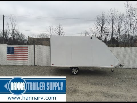 2016 SNOPRO 101x12 Hybrid Aluminum Enclosed 2 Place Snowmobile Trailer