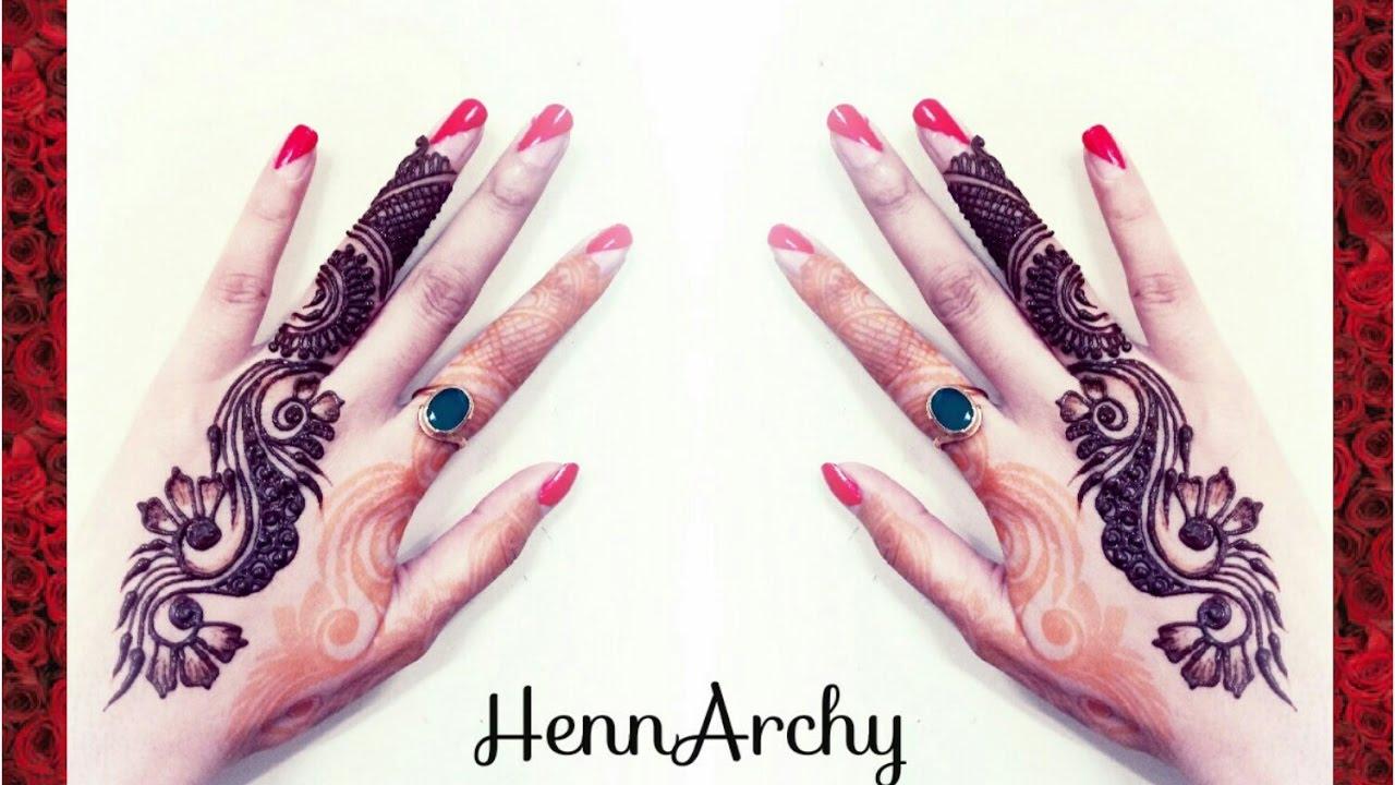 Quick And Easy Ring Finger Elegant Henna Design - YouTube