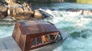 Водометный катер ПрохАдимец штурмует порог Базыбай