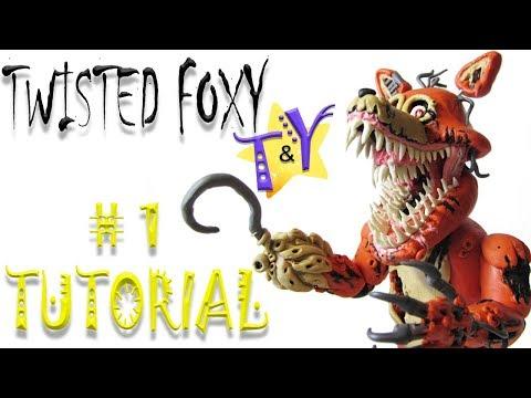 Как слепить Твистед Фокси ФНАФ из пластилина Туториал 1 Twisted Foxy From Clay Tutorial 1