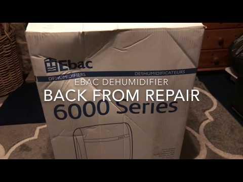 EBAC dehumidifier 6000 series back from repair [part 1 ]