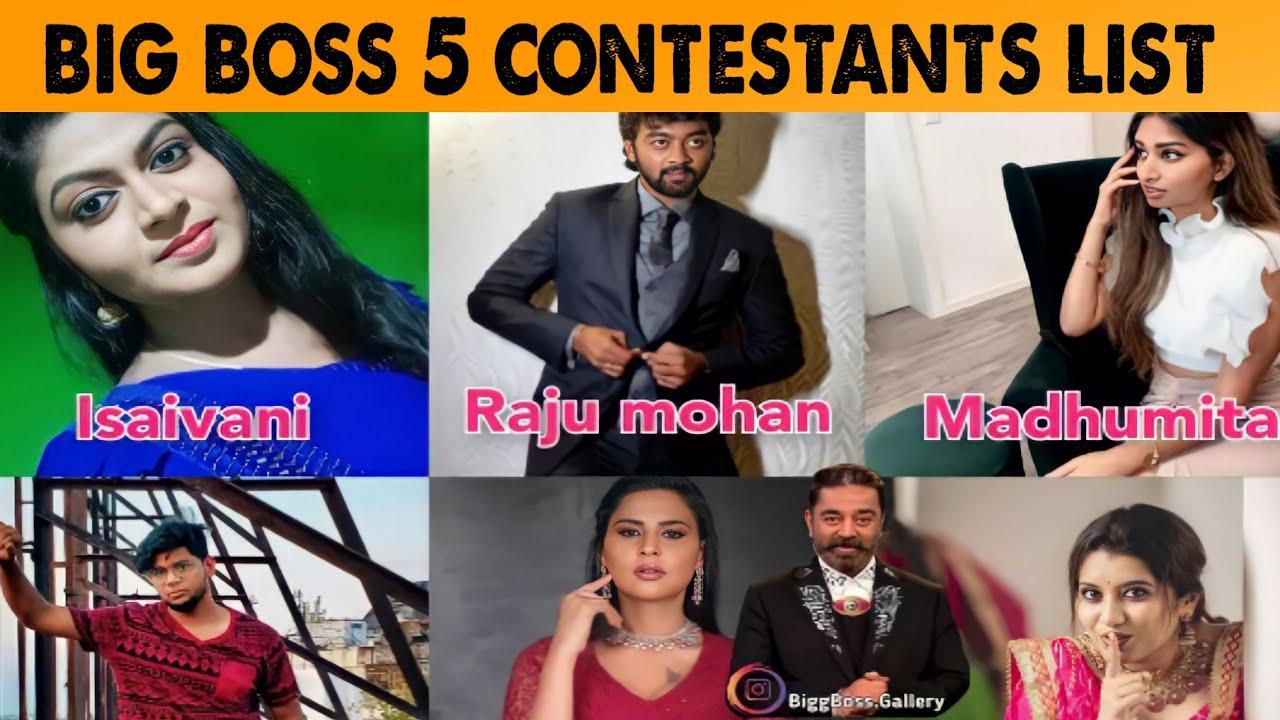 Big Boss Season 5 Confirmed Contestants Name List | Big Boss Season 5