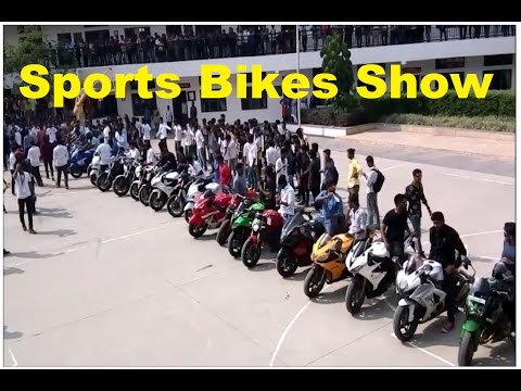 Sports Bike Show at New Horizon College Bangalore (Busa, R1, Ducati, Ninja, Etc.)